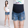 2015 new Jeans Maternity Denim Short Summer Shorts For Pregnant Women Gravidas Clothing Pregnant Clothes