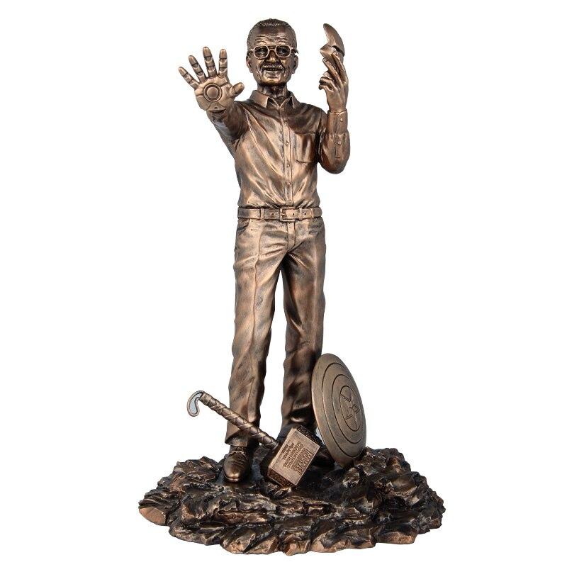 28 CM 1/6 échelle père de héros Anime Figure Stan Lee poupées Stan Lee les Avengers Action Figure résine Statue buste modèle jouet Ver