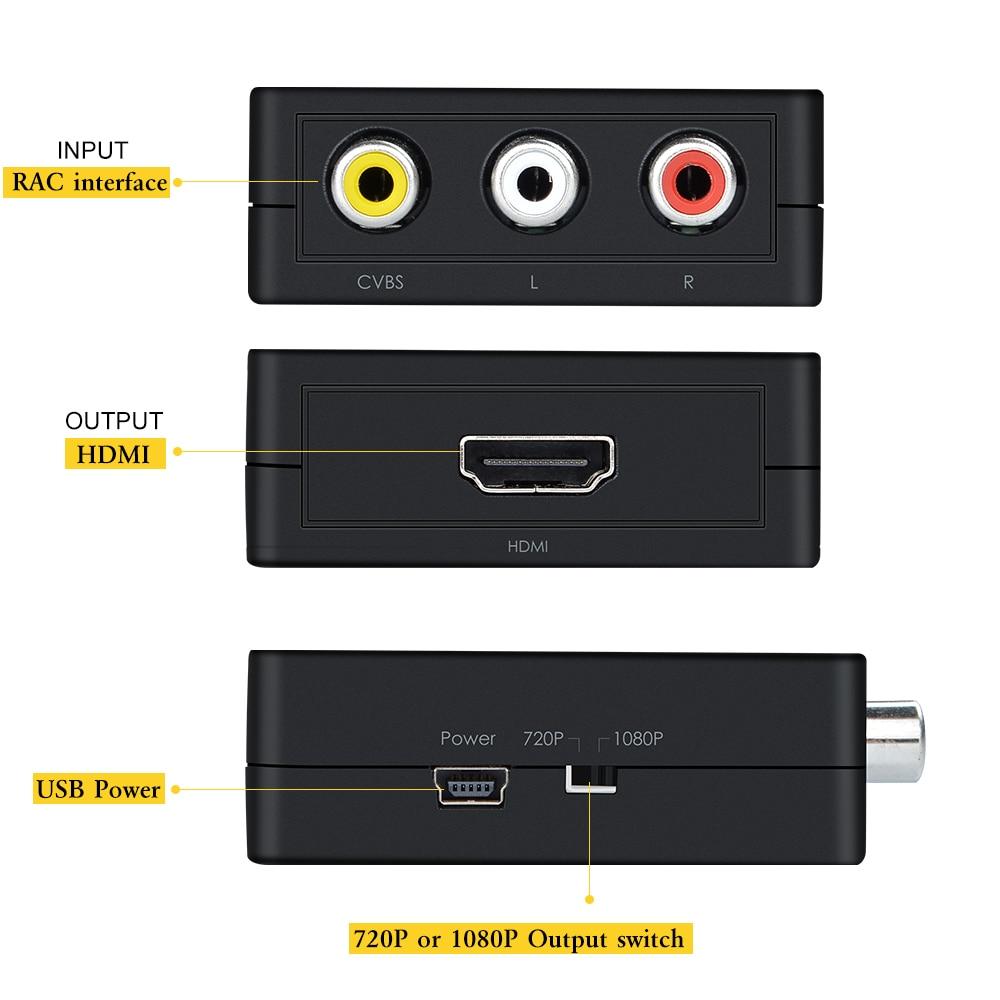 Wavlink Mini 3 RCA Μετατροπέας AV σε HDMI - Καλώδια και σύνδεσμοι υπολογιστών - Φωτογραφία 5