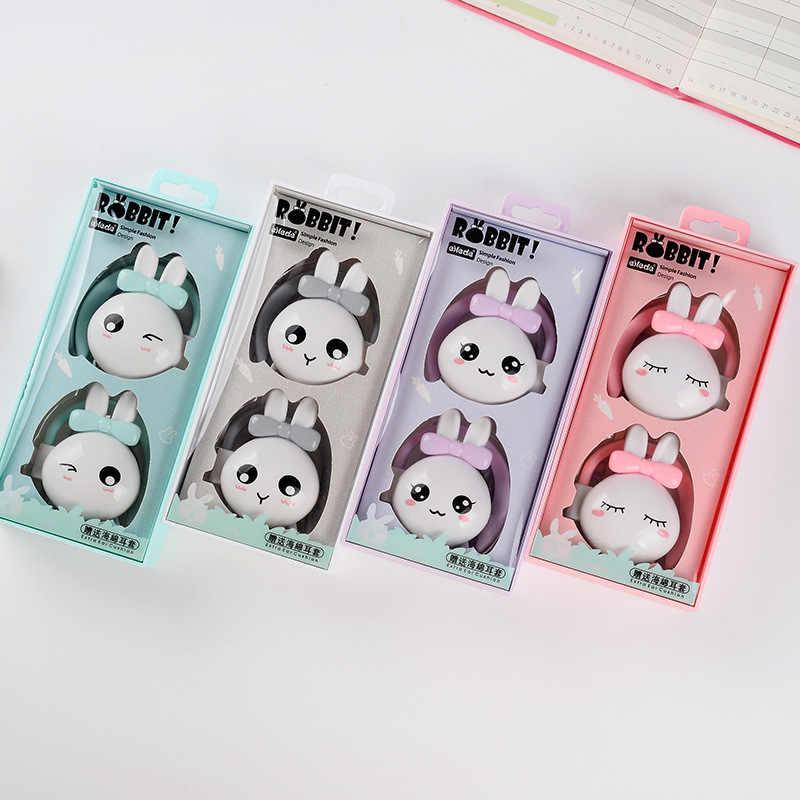 かわいい漫画のウサギ有線ヘッドフォンの Mic イヤホン Xiaomi サムスン Iphone 電話のための子供のクリスマスプレゼント