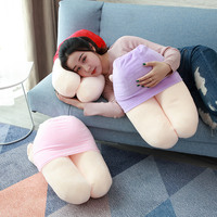 Kneeling girlfriend plush toy Japanese anime stuffed soft doll funny gift priapus plush pillow cushion girlfriend toy