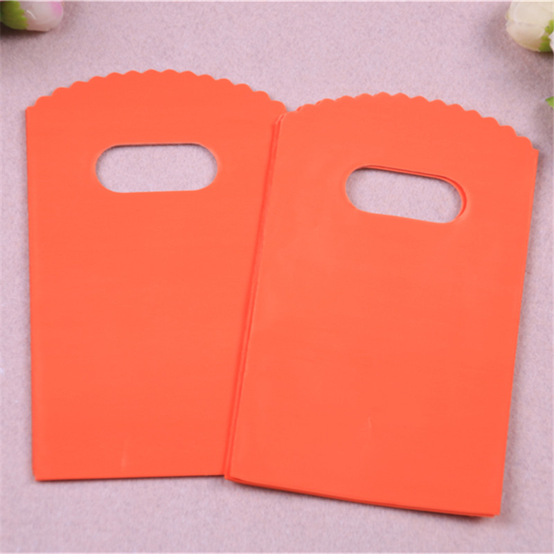 New Design High Quality Wholesale 50pcs/lot 9*15cm Luxury Small Solid Orange Packaging Bags Favor Wedding Gift Pouches