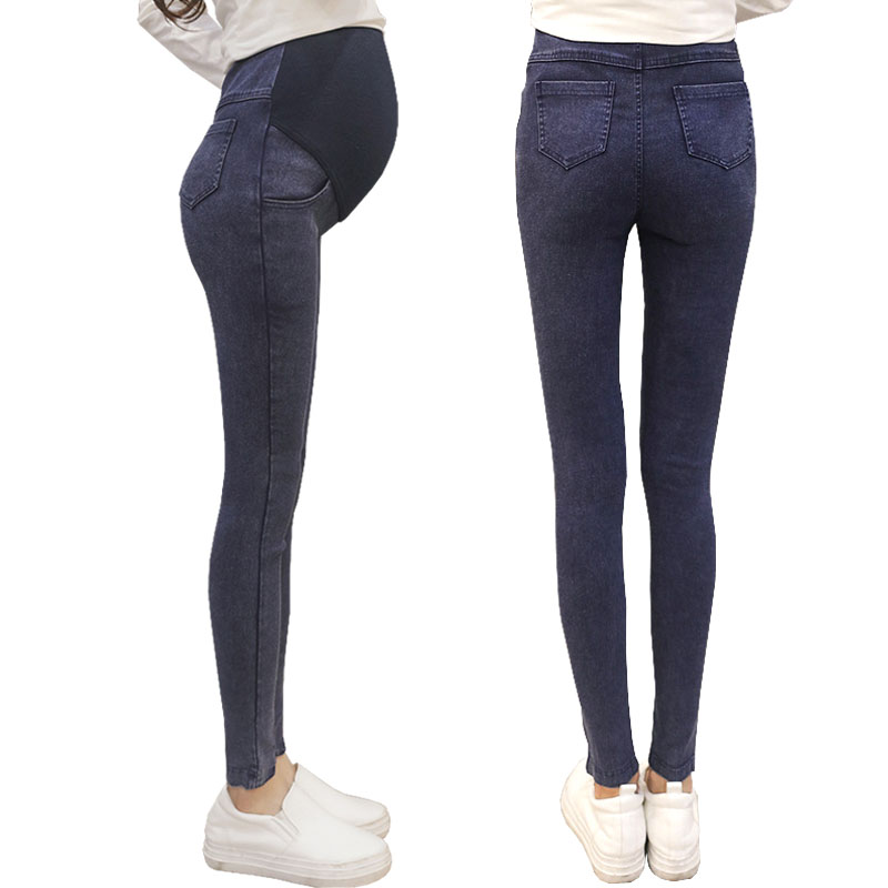 Gravida Belly Pants Maternity Jeans Loose Waist Stretch Leggings For Pregnant Women Clothes Pregnancy Abdominal Jeans Mother