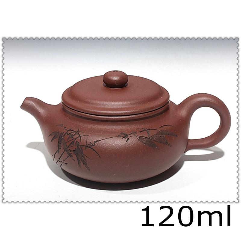 Purple clay pot handmade tea set yixing teapot ml kung