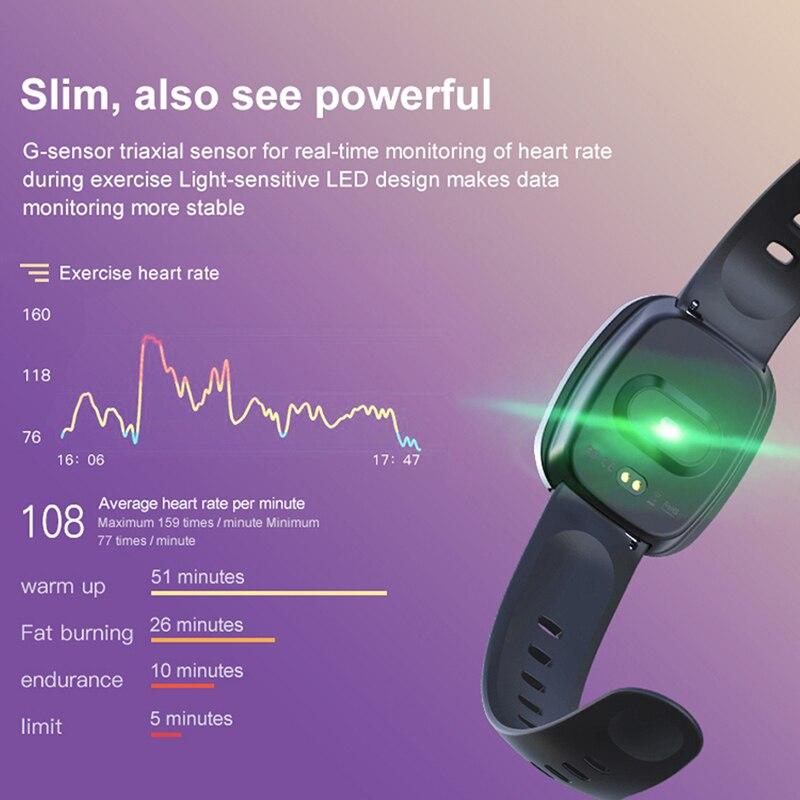 RollsTimi Women Smart Watches IP67 Waterproof Heart Rate Wristband Fitness Tracker Sports Wrist Watch Men Smartwatch IOS Android