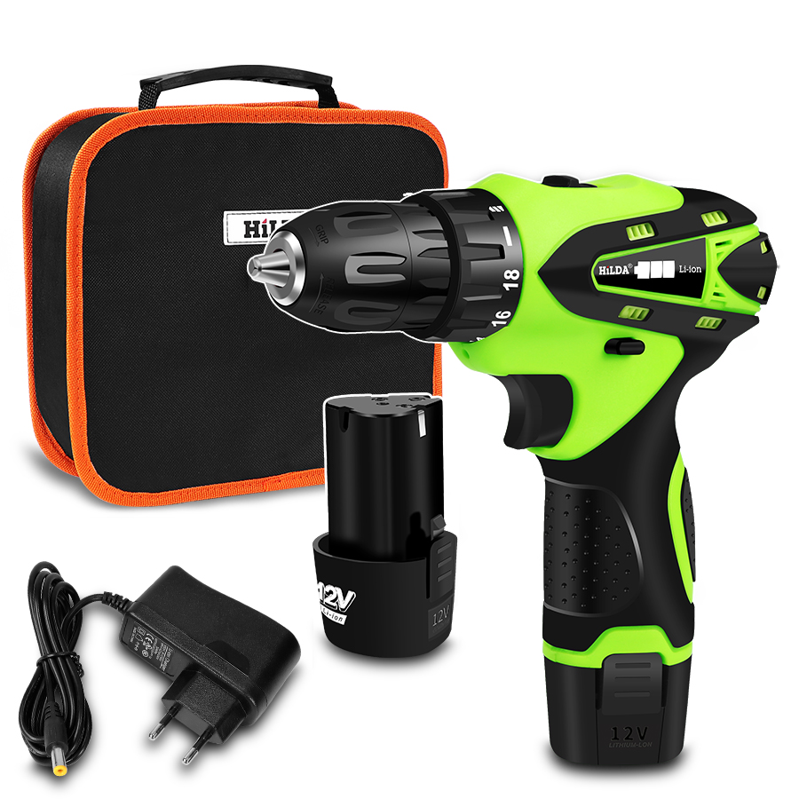 12V Electric Screwdriver Lithium Battery Electric Drill Rechargeable Parafusadeira Furadeira Multi-function Cordless Power Tools12V Electric Screwdriver Lithium Battery Electric Drill Rechargeable Parafusadeira Furadeira Multi-function Cordless Power Tools