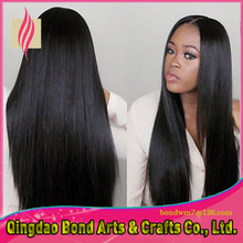 Free Shipping Straight Brazilian Virgin Hair Glueless Full Lace Wig Human Hair For Black Women,With Baby Hair Natural Hair Line