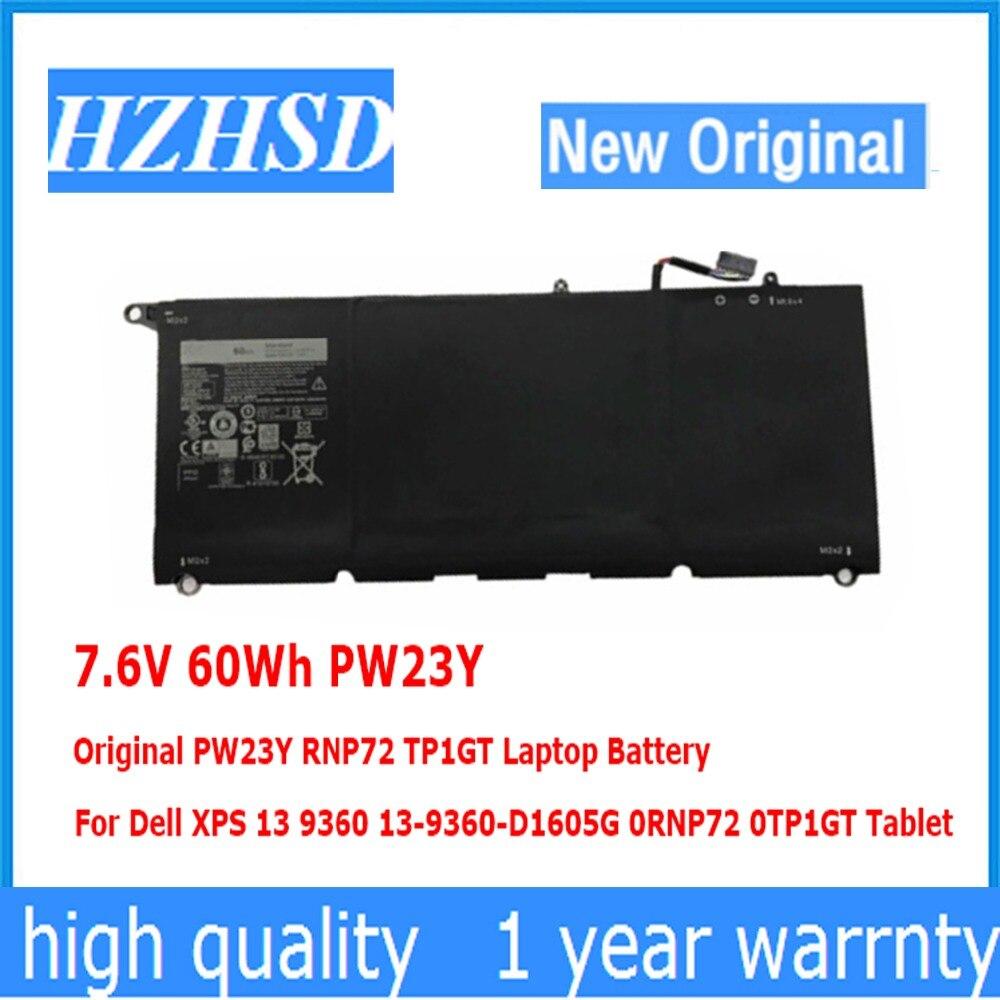 7.6V 60Wh PW23Y Original PW23Y RNP72 TP1GT Laptop Battery For Dell XPS 13 9360 13-9360-D1605G 0RNP72 0TP1GT 93607.6V 60Wh PW23Y Original PW23Y RNP72 TP1GT Laptop Battery For Dell XPS 13 9360 13-9360-D1605G 0RNP72 0TP1GT 9360