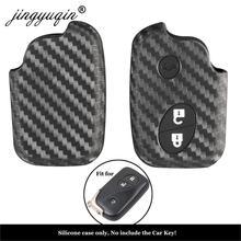 Jingyuqin karbon araba Styling silikon anahtar kılıfı Lexus CT200h ES 300h IS250 GX400 RX270 RX450h RX350 LX570 anahtar kapağı