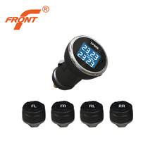 DIY TPMS Wireless Tire Pressure Monitoring System / External Sensors Cigarette Lighter / Four Round At The Same Time Display