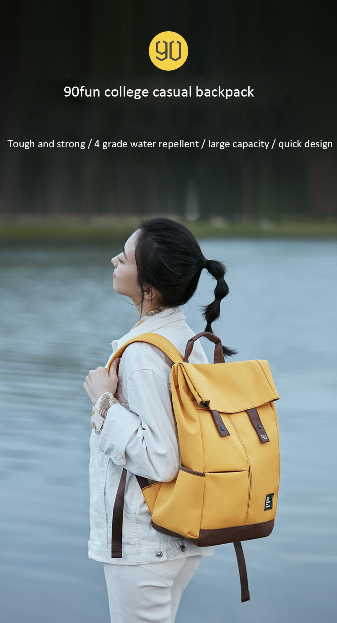 Xiaomi 90fen 90fun Backpack Ipx4 Water Repellent 13L Large Capacity Knapsack