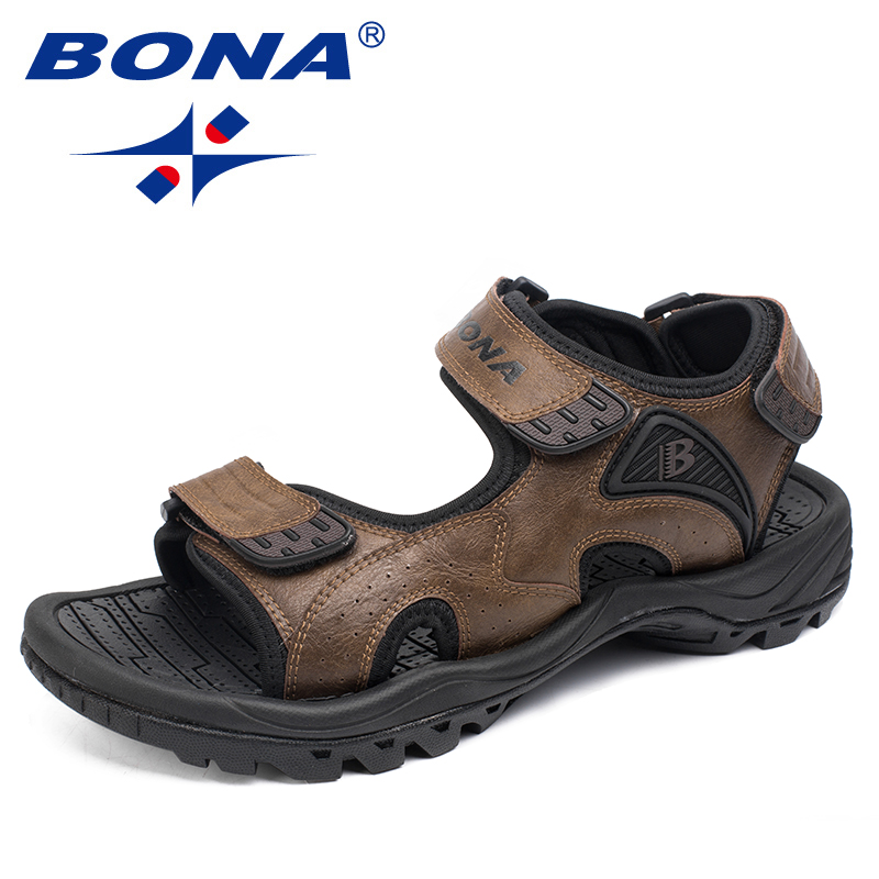 BONA New Style Men Sandals Comfortable Beach Shoes Anti-Slippery Summer Shoes Handmade Men Wading Shoes Fast Free Shippng