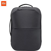 Xiaomi 90FUN City Concise Backpack Anti Theft Zipper 15.6 inch Laptop Bag College School Business Men Women Casual Daypack Black 90fun city concise serie backpack waterproof xiaomi ecosystem fashion design for school college treval man woman dark light grey