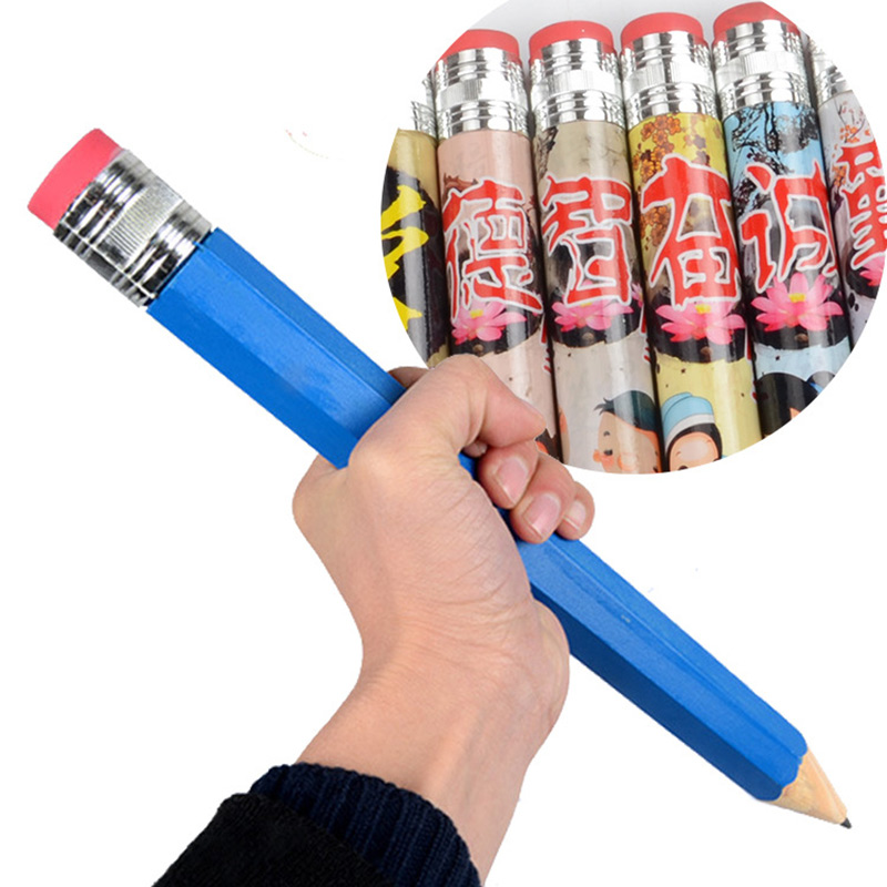 35cm Wooden Big Giant Pencil Personality Stationery For School Props Toys Gifts -17 NSV775
