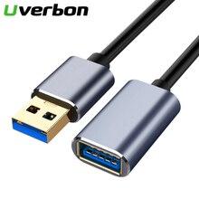 USB 2.0 3.0 تمديد كابل ذكر إلى أنثى موسع كابل لأجهزة الكمبيوتر المحمول تمديدات كابلات USB USB3.0 كابل تمديد للتلفزيون الذكية