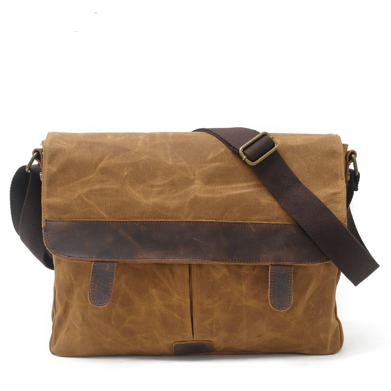 9158 Wholesale Europe and United States Men Bag Wax Canvas Crazy Leather Crossbody  Bag Waterproof Canvas Shoulder Bag 5dc59b2165a75