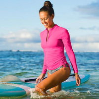 2016 Women Long Sleeve Rashguard Swim Shirts Womens Swimwear Lycra Surf Rushguard Top Quality UV Protection Rush Guard Tops N901