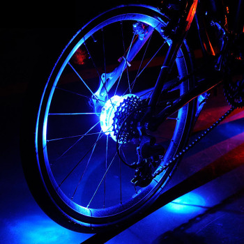 1pcs Bicycle Decorative Light LED Wheel Warning Light Waterproof Bike Accessories YS-BUY image