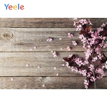 Yeele Flowers Petal Planks Old Wooden Boards Cloth Photography Backgrounds Customized Photographic Backdrops For Photo Studio