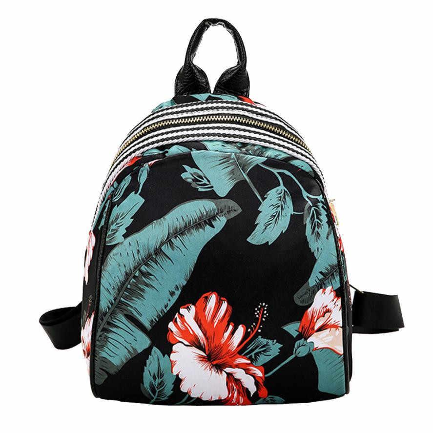 Vintage Floral Mini Backpack Women Girls Print Shoulder Backpack School  Travel Backpacks Casual Drop Shipper Backpacks Bags#24