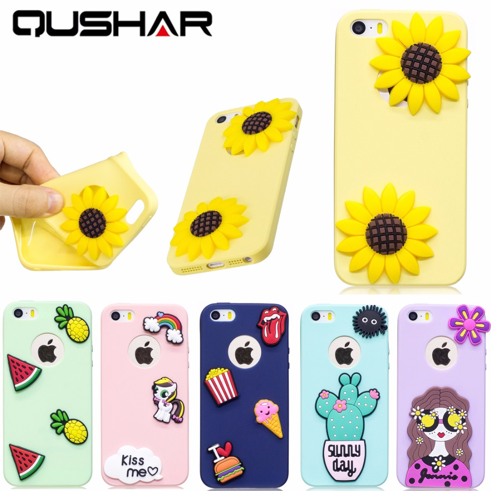 Cover iphone 5 squishy - Qushar Cute Color Case For Iphone 5 S 5s Se 4 Soft Phone Case Silicone Gel Back Cover For Apple Iphone 5s 5g Squishy Phone Case