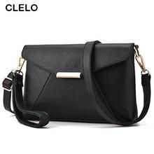 CLELO 2017 Black Women Bag Envelope Ladies Party PU Bags Ladies Shoulder Bag Female Crossbody Bag and Handbag Luxury Designer