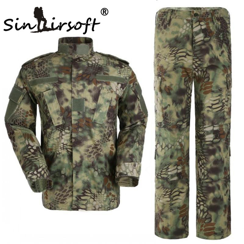 SINAIRSOFT Kryptek Mandrake Camouflage Suit Military Uniform.SHIRT + PANTS, Airsoft Tactical BDU jahirõivad