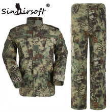 SINAIRSOFT Kryptek Mandrake Camouflage Suit Military Uniform.SHIRT+PANTS,Airsoft Tactical BDU Hunting Clothes