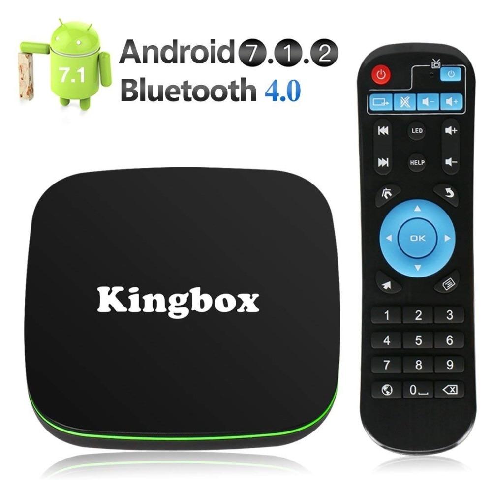 все цены на Android TV Box, Kingbox K1 Android 6.0 TV Box with Mini Keyboard,4K/64Bit/1+8GB/2.4G Wifi/100M, Android Box Support Full HD /H.2 онлайн