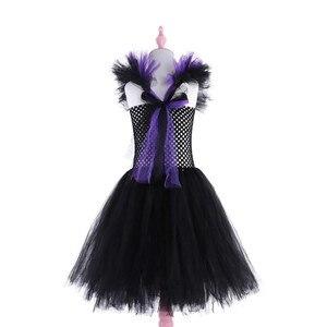 Image 5 - 2020 Maleficent Hoàng Hậu Độc Ác Bé Gái Tutu Đầm Gợi Cảm Halloween Phù Thủy Bộ Trang Phục Cho Bé Gái Công Chúa Trẻ Em Đầm Dự Tiệc Trẻ Em Quần Áo