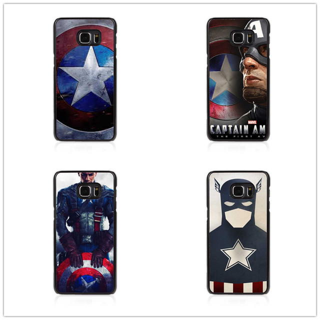 sale retailer 35d30 6962e US $2.66 |Marvel Hero Captain America soft TPU Case Cover For Samsung  Galaxy S6 J6 2018 J8 2018 S7Edge S8 S9 S9PLUS Note 8 9-in Phone Pouch from  ...