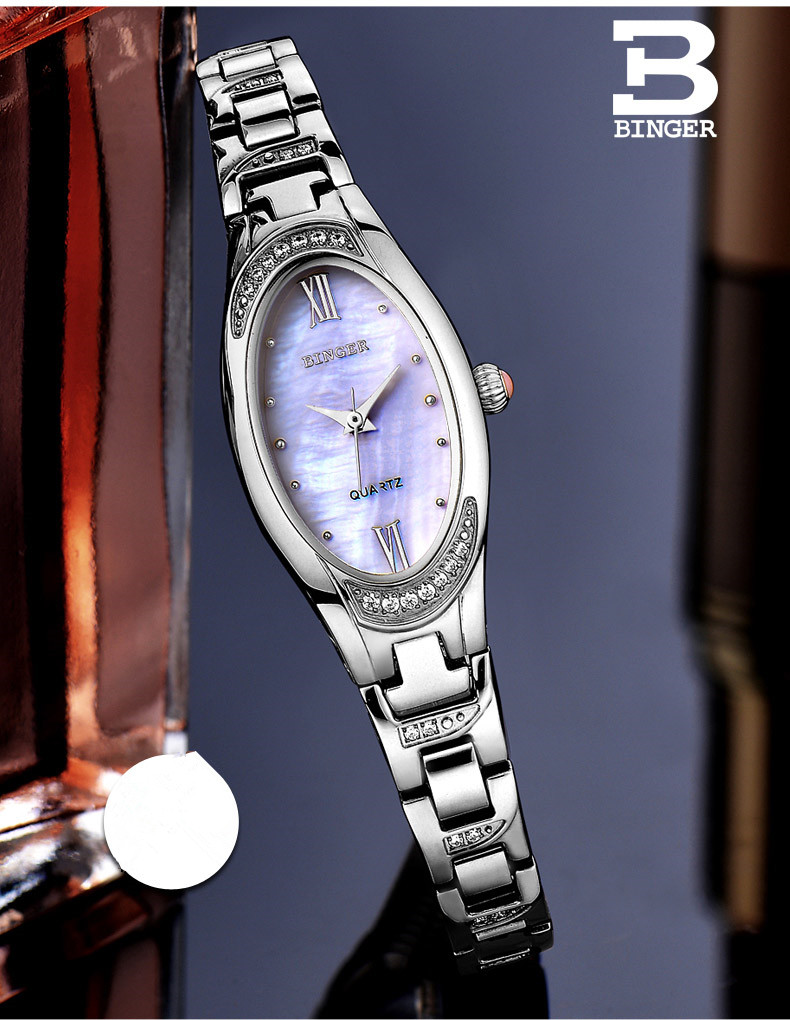 Mulheres Elegante Fina Pulseira de Relógio Analógico