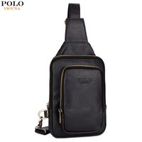 VICUNA POLO High Quality Leather Men Chest Bags Famous Brand Casual Mens Sling Shoulder Bag Small