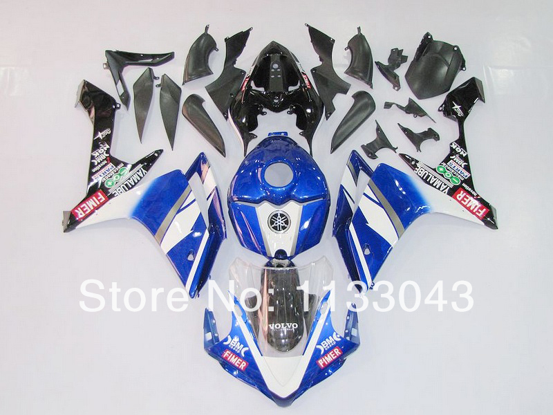 blue white black <font><b>fairing</b></font> kit for <font><b>Yamaha</b></font> YZF <font><b>R1</b></font> 07 08 YZF-<font><b>R1</b></font> 07-08 YZF1000 <font><b>R1</b></font> 07 08 YZF <font><b>R1</b></font> 2007 <font><b>2008</b></font> <font><b>fairings</b></font> #1pmm +7GIFTS image