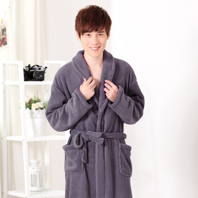 f0eb59cef38d Autumn and winter men s Cotton Bathrobe Nightgown couple towelling bathrobe  lady popular couple thin pajamas at home
