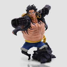 цена на 15cm One piece Gear fourth Monkey D Luffy Anime Action Figure Cartoon Luffy PVC Collectible Model Toys For Kids Christmas Gift