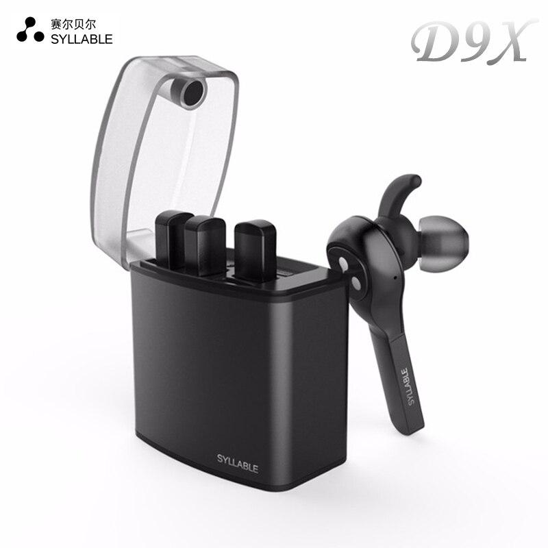 Nouvelle D'origine Syllabe D9X TWS Sans Fil Bluetooth Écouteurs Portable Léger Stéréo Casque Intra-auriculaires Mic pour iphone 7 Xiaomi 3 Téléphone