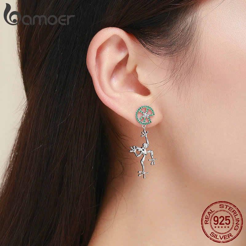 BAMOER Аутентичные стерлингового серебра 925 прыгающая лягушка браслеты Висячие Серьги Комплекты украшений для женщин ювелирные изделия из стерлингового серебра ZHS073