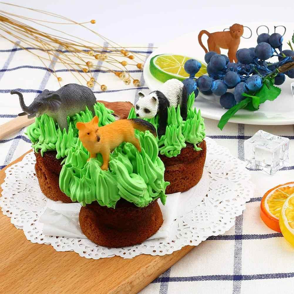 53pcs/set Mini Jungle Animal Toy Set Dinosaur Wildlife Model Children Puzzle Early Education Gift