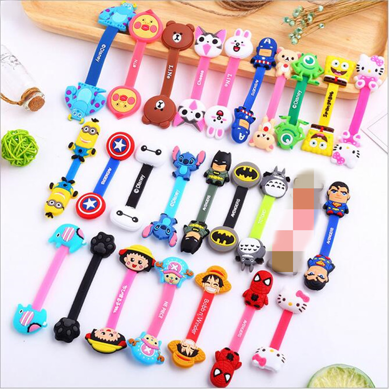 Hot Cartoon Cable Organizer Bobbin Winder Protector Wire Cord Management Marker Holder Cover For Earphone iPhone Sansung MP3 USB stylish auto cable wire cord organizer smart wrap bobbin winder for earphone