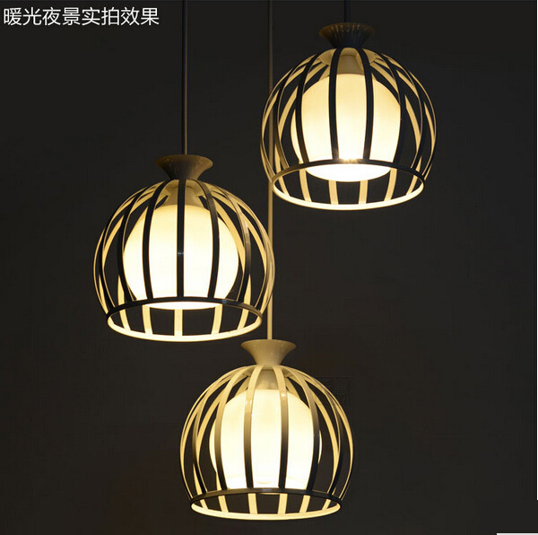 ФОТО Creative Single Head Lamp Lampshade Modern Minimalist Iron Fashion Restaurant Special Package Mail Pendant Lights