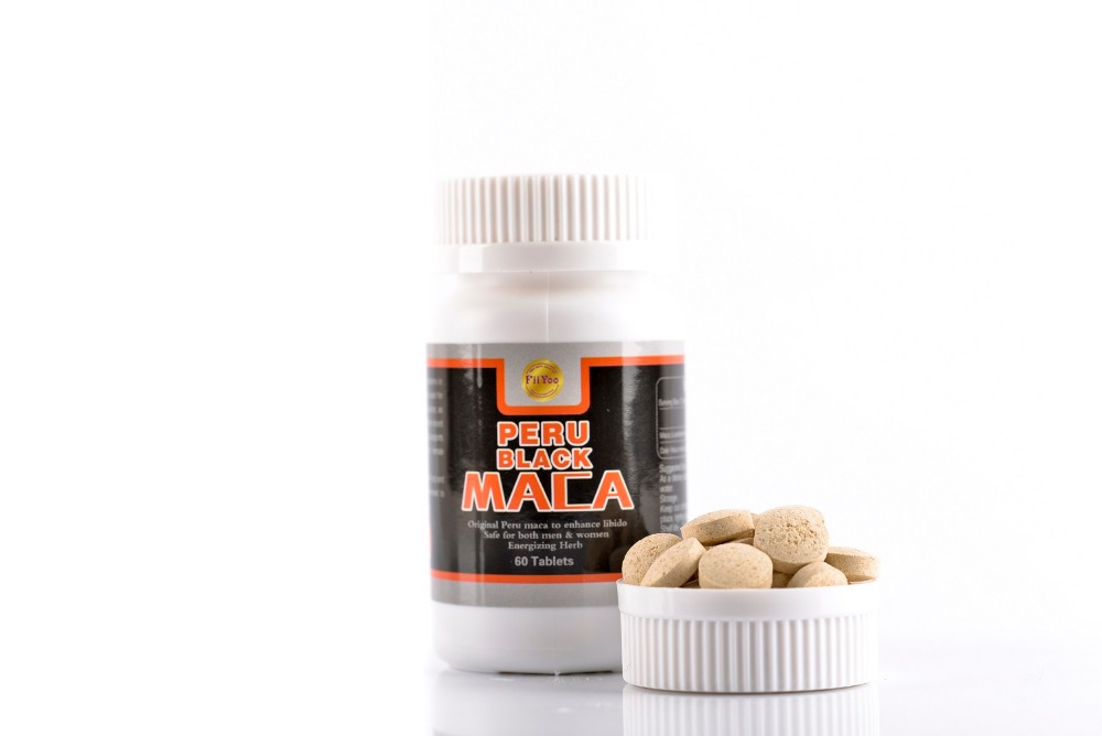 60 caps/bottle, 2 bottles/lot, peru black maca root extracts for both men and women terra maca maca