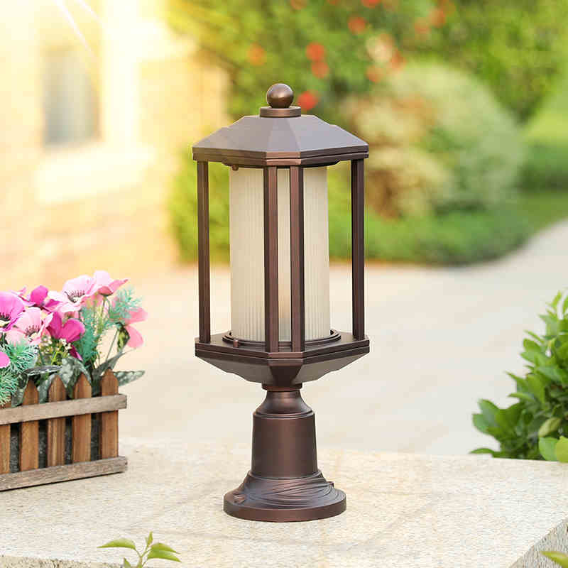 Garden decorative pillar lamp european-style waterproof outdoor garden gate lamp outdoor courtyard wall light удилище фидерное mikado ultraviolet heavy feeder 360 до 120гр карбон mx 9