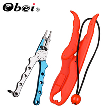 1018 Fishing Plier Aluminium Alloy Mild Lure Grip Plier  Wire Cutter Fishing Equipment With Pouch AND PP Laborious Plastic Fish Controller