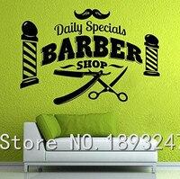 Barber Shop Vinyl Wall Sticker Home Decor Scissors Brush Comb Barber Shop Tools Hair Salon Mural Art Wall Decal Shop Decoration