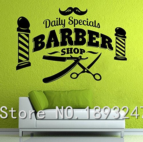 Barber Shop Vinyl Wall Sticker Home Decor Scissors Brush Comb Barber Shop Tools Hair Salon Mural Art Wall Decal Shop Decoration