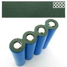 100 pces 1 s 18650 li-ion bateria isolamento junta de papel cevada bloco de bateria célula isolamento cola remendo elétrodo isolado almofadas