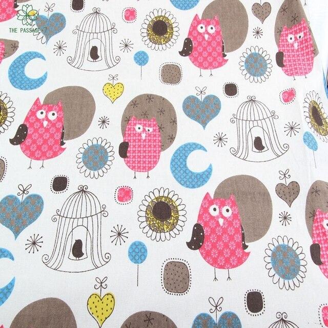 2015 eule Muster 100% Leinenstoff Hand Textil Nähen Stoffe Für ...