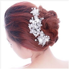 Bride Crystal Rhinestones Pearls Women Hairpins Bridal Headpiece Hair Jewelry Accessories