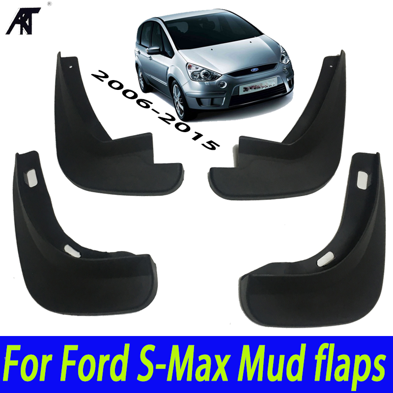 Mud Flaps Fit For Ford S-Max 2006-2015 Mudflaps Splash Guards Front Rear Mudguards 2007-2010 Accessories Set Molded Mud Flaps for volkswagen vw beetle 2012 2017 front rear molded car mud flaps mudflaps splash guards mud flap mudguards fender